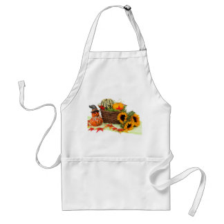 Pumpkin and Sunflowers Adult Apron