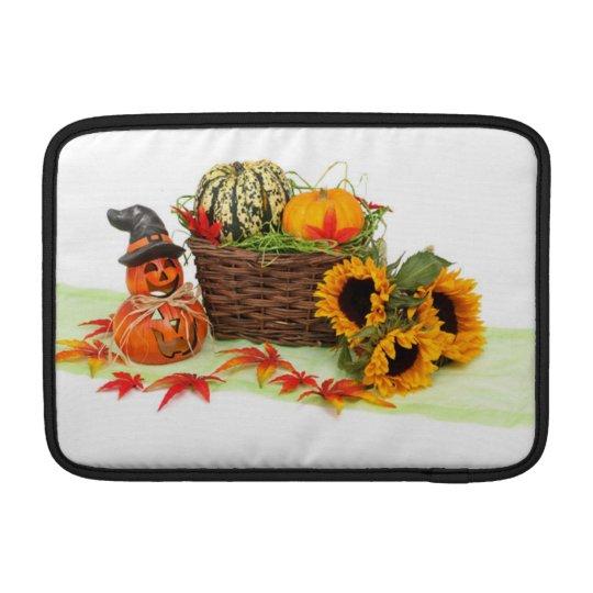 Pumpkin and Sunflowers MacBook Air Sleeve