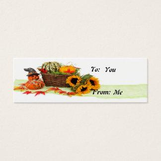 Pumpkin and Sunflowers Mini Business Card