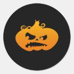 Pumpkin Angry Classic Round Sticker