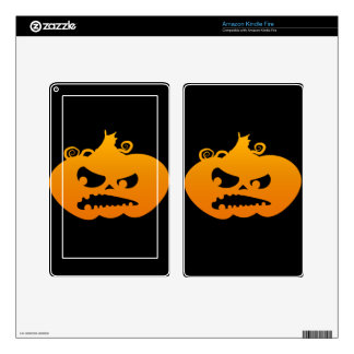 Pumpkin Angry Decals For Kindle Fire