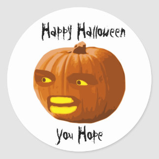 Pumpkin Angry: Happy Halloween - You Hope Classic Round Sticker