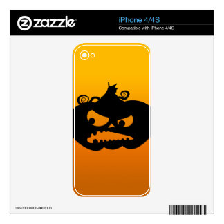 Pumpkin Angry iPhone 4 Decals