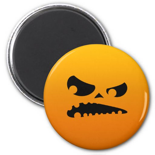 Pumpkin Angry Refrigerator Magnets