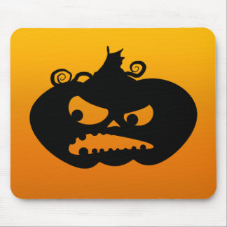 Pumpkin Angry Mouse Pad