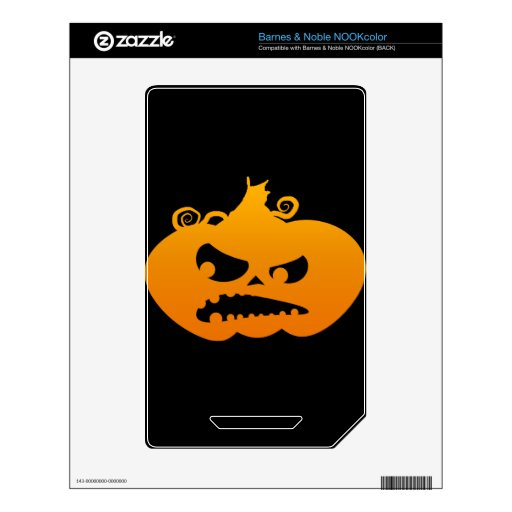 Pumpkin Angry NOOK Color Decal