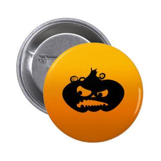 Pumpkin Angry Pinback Button