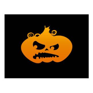 Pumpkin Angry Postcard