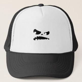 Pumpkin Angry Trucker Hat