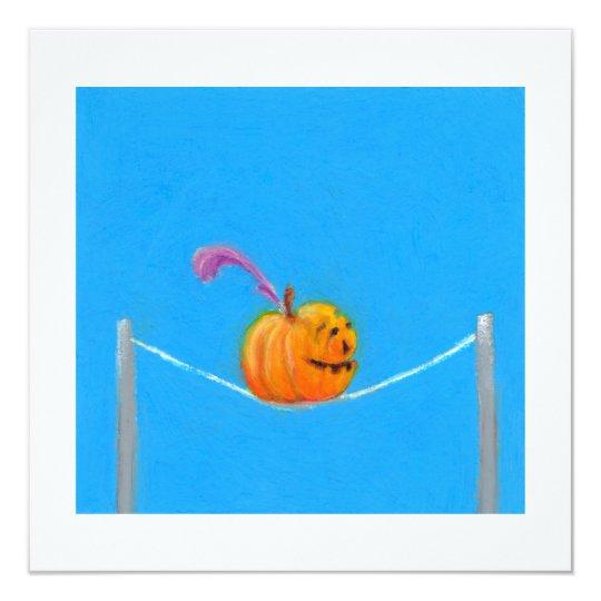 Pumpkin art - fun colorful drawing circus card