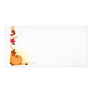 Pumpkin Autumn Border Card