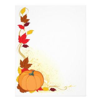 Pumpkin Autumn Border Letterhead Design
