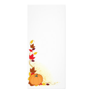 Pumpkin Autumn Border Rack Card