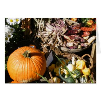 Pumpkin Autumn card