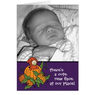 Pumpkin Baby Birth Announcement (Boy or Girl)