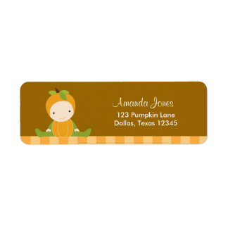 Pumpkin Baby Return Address Labels