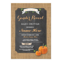 Pumpkin Baby Shower Gender Reveal Party Invitation