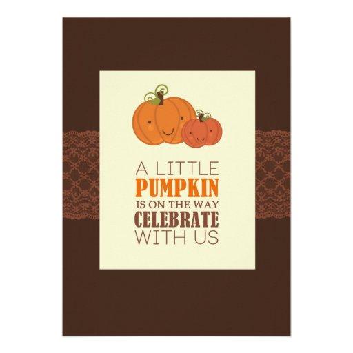 Pumpkin Baby Shower Invitation