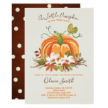Pumpkin Baby shower invitation Autumn Fall Neutral