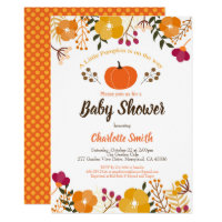 Pumpkin baby shower invitation Fall Autumn