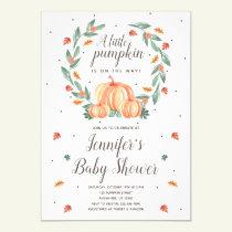 Pumpkin Baby Shower Invitation Fall Baby Shower