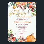 """Pumpkin baby shower invitation, fall baby shower invitation<br><div class=""""desc"""">For more advanced customization of this design,  simply select the &quot;Customize It&quot; button above!</div>"""