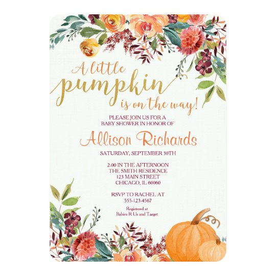 Pumpkin baby shower invitation fall baby shower invitation zazzle pumpkin baby shower invitation fall baby shower invitation filmwisefo