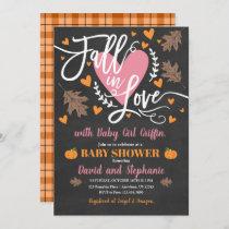 Pumpkin Baby Shower Invitation Halloween Girl Baby