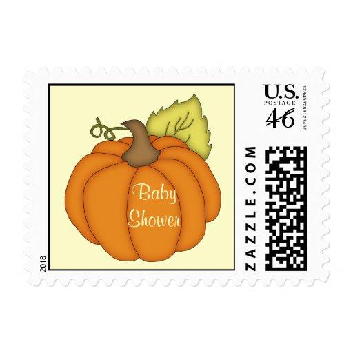 Pumpkin Baby Shower Postage