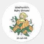 Pumpkin Baby Sticker - Baby Shower Party Favor