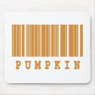 pumpkin barcode design mouse pad
