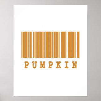 pumpkin barcode design poster