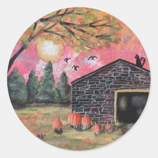 Pumpkin Barn Classic Round Sticker