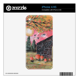 Pumpkin Barn Decal For iPhone 4