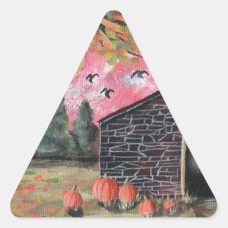 Pumpkin Barn Triangle Sticker