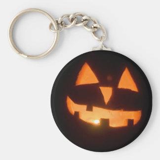 pumpkin basic round button keychain