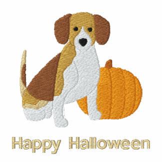Pumpkin Beagle Embroidered Shirt (Long Sleeve)