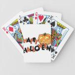 pumpkin bicycle playing cards
