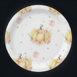 """Pumpkin Birthday Baby Shower Paper Plates<br><div class=""""desc"""">Celebrate your baby shower/ birthday party in style with these gorgeous Little Pumpkin Paper Plates. Personalise it easily and quickly, simply press the customise it button to further re-arrange and format the style and placement of the text. Matching Little Pumpkin invitation and party accessories available at our Zazzle shop. (c)...</div>"""