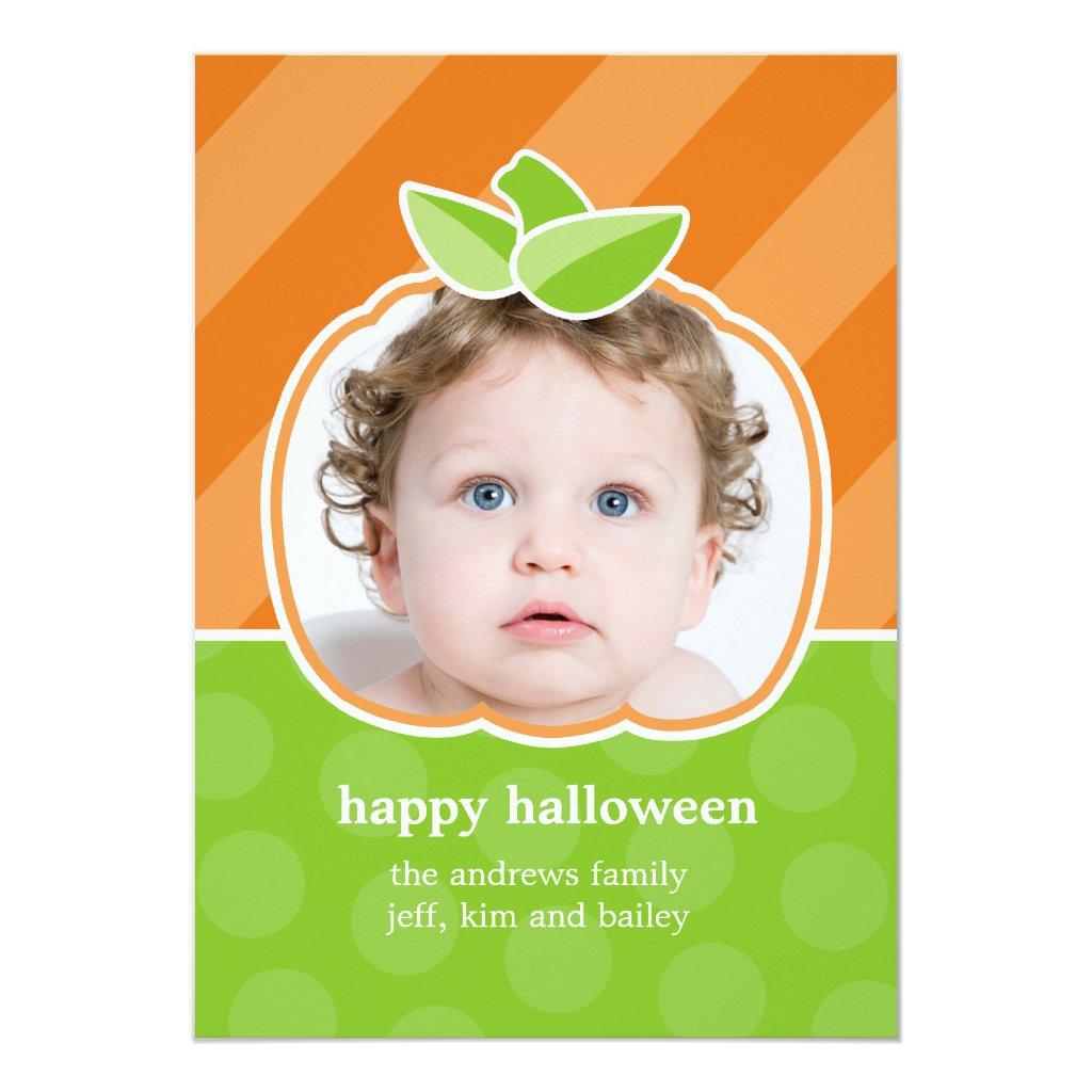 Pumpkin Birthday Invitation or Halloween Greeting