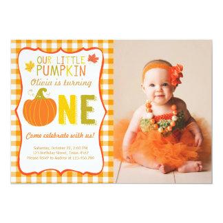 Pumpkin Birthday Invitations Announcements Zazzle