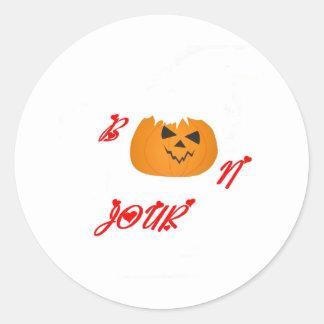 Pumpkin BONJOUR.JPG Classic Round Sticker