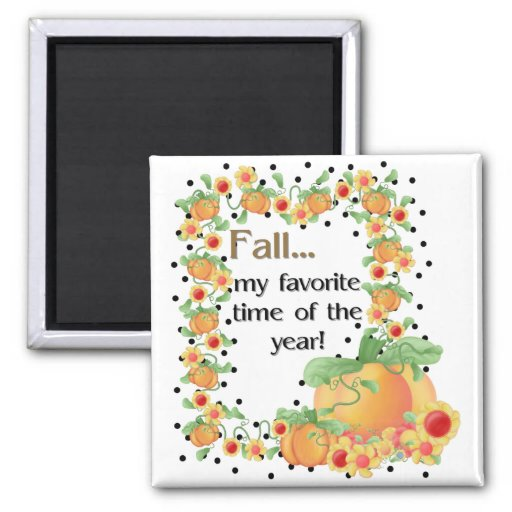 Pumpkin Border - Fall My Favorite Magnet