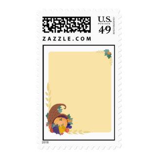 Pumpkin Border Postage