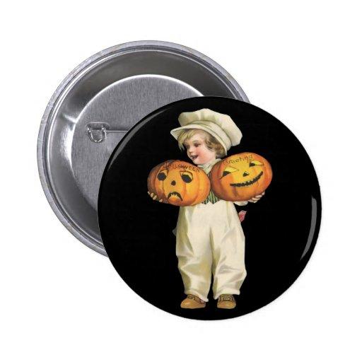 Pumpkin Boy 2 Inch Round Button
