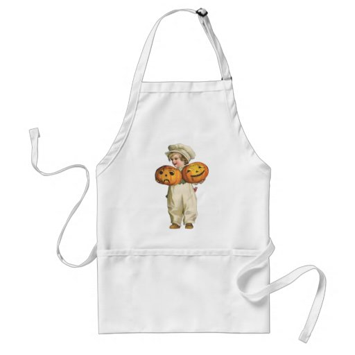 Pumpkin Boy Adult Apron