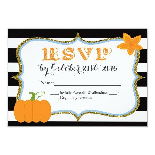 Pumpkin Boy Baby Shower Invitation RSVP Card