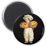 Pumpkin Boy Fridge Magnet