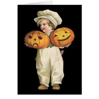Pumpkin Boy Greeting Card