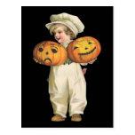 Pumpkin Boy Postcard